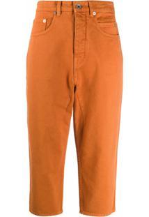 Rick Owens Drkshdw Calça Jeans Saruel - Laranja