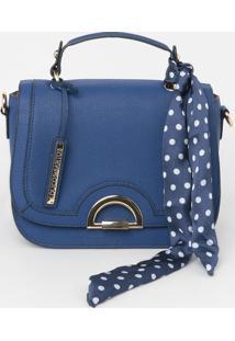 Bolsa Com Bolso & Bag Charm - Azul - 20X24X12Cmloucos E Santos