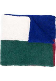 Plan C Echarpe Color Block - Azul
