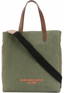 Golden Goose Bolsa Tote East-West California - Verde
