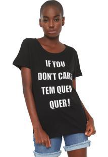 Camiseta Coca-Cola Jeans Don'T Care Preta