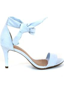 Sandalia Emporionaka Suede Slim Azul