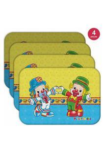 Jogo Americano Patati Patatá Love - Produto Licenciado Kit Com 4 Pçs