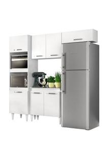 Cozinha Modulada 4 Módulos Composiçáo 4 Branco - Lumil Móveis