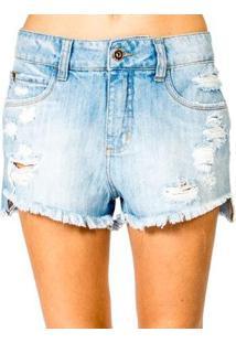 Shorts Jeans Luiza Colcci - Feminino-Azul