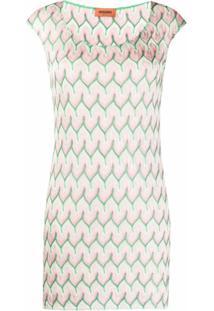 Missoni Vestido Com Bordado Geométrico - Rosa