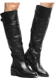 ffa4a45ad5 Shoestock. Bota Couro Montaria Shoestock Flat Feminina