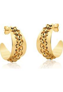 Argola Le Diamond Correntes Dourado