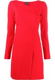 Just Cavalli Vestido Gola V Com Estampa De Logo - Vermelho