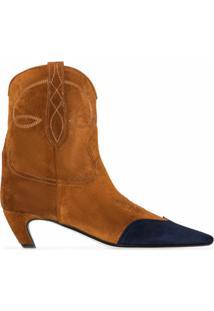 Khaite Ankle Boot Dallas Com Salto 45Mm - Marrom