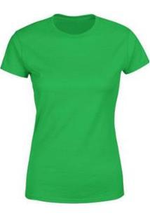 Camiseta Goup Supply Lisa Básica Premium 100% Algodão Feminina - Feminino-Verde