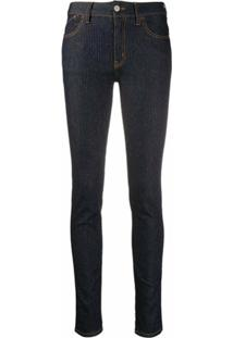 Just Cavalli Calça Jeans Skinny Com Logo - Azul