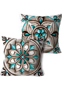 Kit 2 Capas Para Almofadas Decorativos Marrocos 35X35Cm