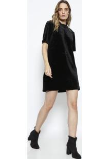 5a15bdfc1 Privalia. Vestido Paloma Aveludado Com Termocolantes - Preto -Le Lis Blanc