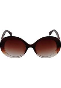 Óculos De Sol Khatto Round Cristal - C048 Feminino - Feminino-Marrom