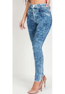 Calça Sawary Skinny Marmorizada Jeans
