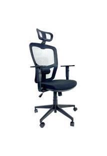 Cadeira Office Presidente Byartdesign Turim Preto