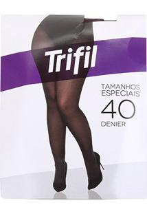 Meia Calça Trifil Plus Size Fio 40 Opaca Feminina - Feminino-Marrom