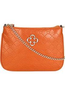 Bolsa Capodarte Mini Bag Alça Corrente Transversal Feminina - Feminino-Caramelo