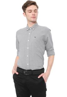 Camisa Lacoste Slim Padronagem Preta