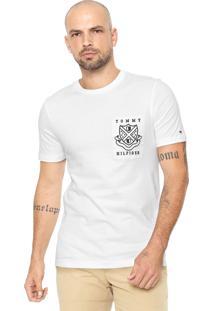 Camiseta Tommy Hilfiger Estampada Branca