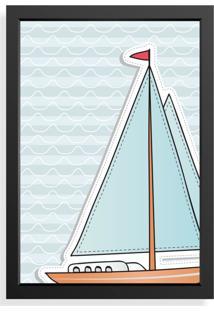 Quadro Love Decor Decorativo Infantil Barco A Vela