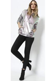 Jaqueta Sue Metalizada - Prateada - Le Lis Blancle Lis Blanc