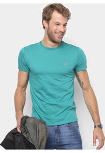Camiseta Lacoste Básica Jersey Masculina - Masculino-Verde Claro