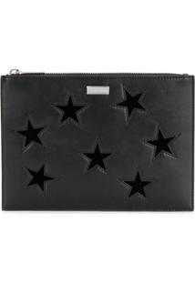 Stella Mccartney Bolsa De Mão Com Estrelas - Preto