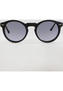 a6f8511b6d52f CEA. Óculos De Sol Redondo Masculino Oneself Preto - Único