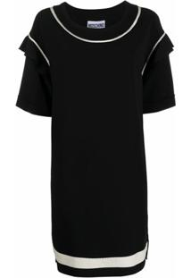 Moschino Vestido Reto Oversized - Preto