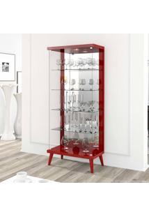 Cristaleira 2 Portas Tifanny Vermelho - Imcal