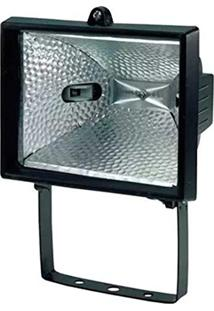 Refletor Para Lâmpada Halogena 300/500W Preto Taschibra