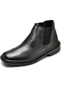Bota Couro Top Franca Shoes Masculino - Masculino-Preto