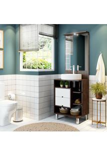 Conjunto De Banheiro Stm Móveis L02 Rust Branco Se