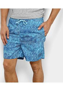 Short Nyc Norwich Yacht Club Palm Masculino - Masculino-Azul