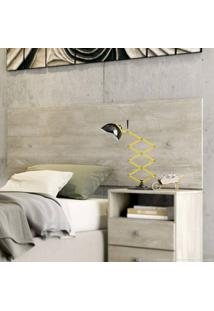 Painel Decorativo/Cabeceira Casal A113 100% Mdf 54 X 140 X 1,5 Álamo - Incolar
