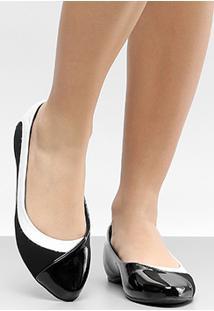 Sapatilha Modare Bicolor Feminino - Feminino-Preto+Branco