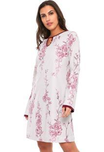 Camisola Curta Floral Censato Rosa