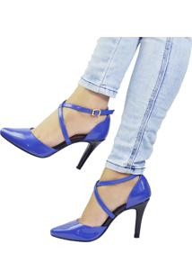 fdcc0d49e1 ... Scarpin Pri Gonçalves Verniz Azul