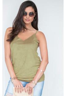 Blusa Verde De Alcinhas