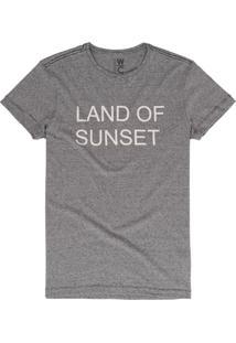 Camiseta West Coast Wc Land Of Sunset Listrado Cinza