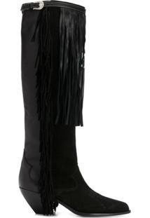 Golden Goose Ankle Boot Com Detalhe De Tassel - Preto