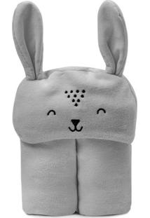 Cobertor Mami Bichus Com Capuz- Cinza- 85X110Cm-Papi