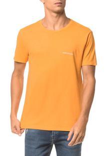 Camiseta Ckj Mc Logo Peito - Mostarda - P