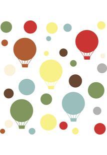 Adesivo De Parede Balões Coloridos Skip Hop Vermelho