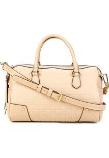 Bolsa Couro Carmim Handbag Alça Transversal Samara Feminina - Feminino-Areia