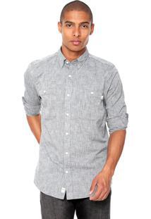 Camisa Timberland Chambray Cinza