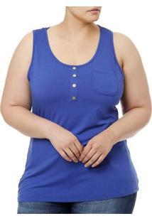 Blusa Regata Feminina Lnd Clean Azul
