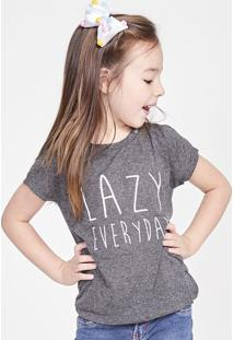 "Blusa ""Lazy Everyday"" - Cinza Escuro & Brancapop Up"